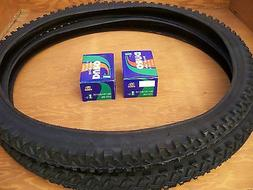 26'' X 1.95 BLACK MOUNTAIN BIKE TIRES &  TUBES. MTB, CRUISE