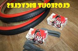 2 Beach Cruiser 26x2.125 Bicycle Tires Inner Tubes/Rim Strip