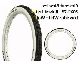 "1- WHITE WALL 20x1.75"" LOWRIDER Bike bicycle tread TIRE Duro"