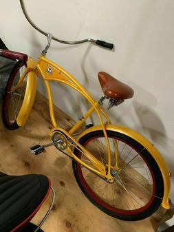 2000 Yellow Electra New Belgium Beach Cruiser Bike