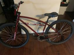 """2020 S&M Cruiser 26""""Complete Bike Trans Red"""