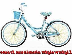 """24"""" GIRLS' CRUISER BIKE BLUE ALUMINUM FRAME Lightweight Bi"""