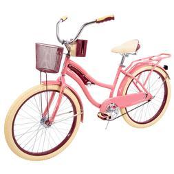 """Huffy 24"""" Womens Girls' Nel Lusso Beach Cruiser Bike wit"""