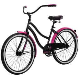 Huffy 24 inch Cranbrook Girls Cruiser Bike For Women- Black