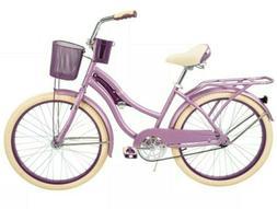 🔥Huffy 24 Inch Nel Lusso Classic Cruiser Bike - Purple -