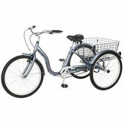 """Schwinn 24"""" Meridian Adult Tricycle, Grey"""