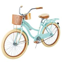 "HUFFY 24"" NEL LUSSO CRUISER BIKE MINT GREEN WITH BASKET BR"