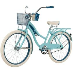 "Huffy 24"" Nel Lusso Girls' Cruiser Bike, Blue"