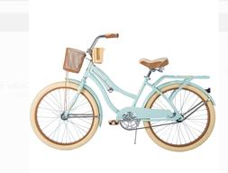 24 nel lusso girls cruiser bike mint