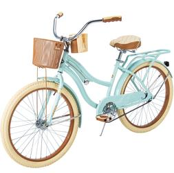 "Huffy 24"" Nel Lusso Girls' Cruiser Bike, Mint Green"