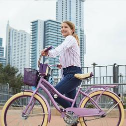 "Huffy 24"" Nel Lusso Girls' Cruiser Bike - Purple"