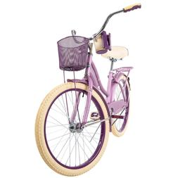 "Huffy 24"" Nel Lusso Girls' Cruiser Bike with Perfect Fit Fra"