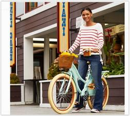 "Huffy 24"" Women's Comfort Beach Cruiser Bike Multiple Colors"