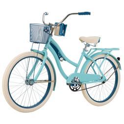 "Huffy 24"" Womens Girls' Nel Lusso Beach Cruiser Bike with Pe"