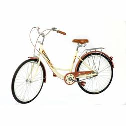 24in Beach Cruiser Women's Bike City Brown Bicycle Comfortab