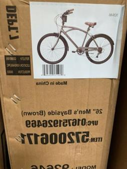 "NEW Kent 26"" Mens Bayside Beach Cruiser Bike Satin Cocoa FRE"