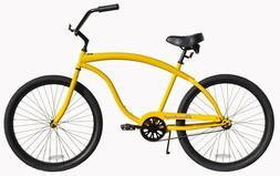 "26"" Beach Cruiser Bicycle Firmstrong Bruiser Prestige Men Ye"