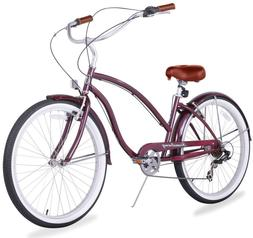 "26"" Beach Cruiser Bike Bicycle Firmstrong Chief Women 7 spd"