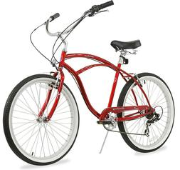 "26"" Beach Cruiser Bike Bicycle Firmstrong Urban Men 7 SPEED"