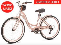 Tall Womens 26 Inch Stylish Cruiser Bike Low Step-through Bi