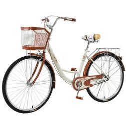 "🔥 JINT 26"" Bicycle Women's Cruiser Bike - Beige  🔥BRAN"