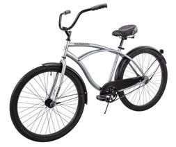 "Huffy 26"" Cranbrook Cruiser Comfort Bike Mens Silver *ship"