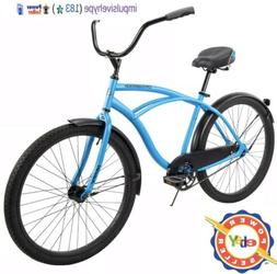 "Huffy 26"" Cranbrook Men Comfort Cruiser Bike Matte Blue BRAN"