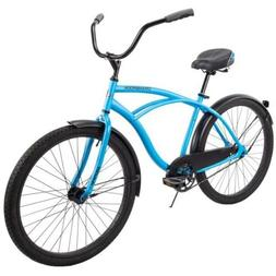 "Huffy 26"" Cranbrook Men's Comfort Cruiser Bike, Matte Blue S"