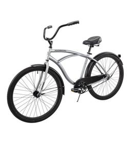"Huffy 26"" Cranbrook Men's Beach Cruiser Comfort Bike Sil"