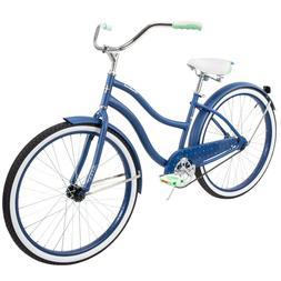 "Huffy 26"" Cranbrook Women's Comfort Cruiser Bike, Blue In Ha"