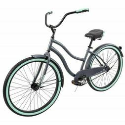 "Huffy 26"" Cranbrook Women's Beach Cruiser Comfort Bike GRAY"