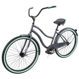 "Huffy 26"" Cranbrook Women's Comfort Cruiser Bike Rare Gray/G"