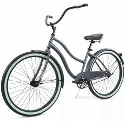 """Huffy 26"""" Cranbrook Women's Comfort Cruiser Bike Gray/Grey F"""