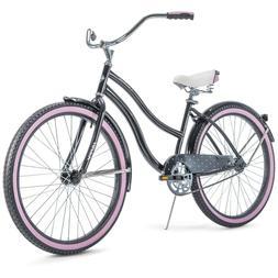 "Huffy 26"" Cranbrook Women's Comfort Cruiser Bike, Black/Pink"