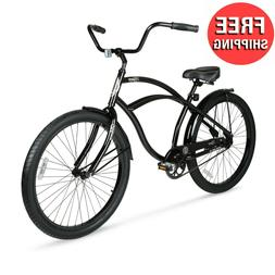 "26"" Cruiser Bike Mens Adults Bicycle 26-inch Wheels Cycling"