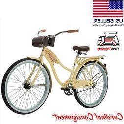 """26"""" Women's Cruiser Bike Huffy Panama Jack Beverage Hold"""