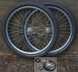 "26"" Cruiser Bike Stick Shifter WHEELS 3 Speed Hub Tires Vint"