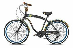 "Margaritaville 26"" Cruiser Men's Cruiser Bike with Sturdy Ha"