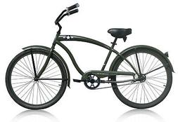 "Micargi 26"" General Men beach cruiser bicycle bike Army Gree"