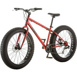 "26"" Mongoose Hitch Men All-Terrain Fat Tire Bike Red Durable"