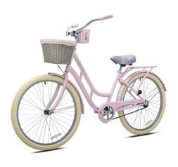 Kent 26 inch Ladies BCA Charleston Beach Cruiser Bike Pink B