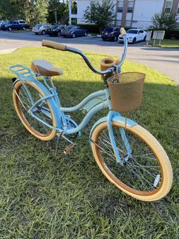 "Huffy 26"" Inch Women's Nel Lusso Cruiser Bike Blue Ships N"