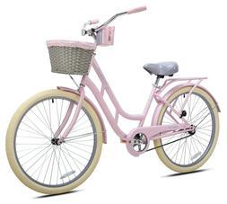 """New KENT 26"""" Ladies BCA Charleston Beach Cruiser Bike Pink F"""