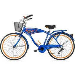 """BCA 26"""" Margaritaville Multi-Speed Cruiser Men's Bike, Blue"""