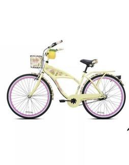 "Kent 26"" Margaritaville Women's 3-Speed Cruiser Bike, Yellow"