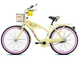 "Kent 26"" Margaritaville Women's 3-Speed Cruiser Bike, Yellow"