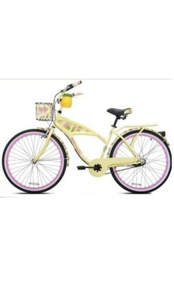"Kent 26"" Margaritaville Womens 3-Speed Cruiser Bike Yellow/C"