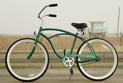 "26"" Men Beach Cruiser Bicycle Bike Firmstrong Urban Dark Gre"