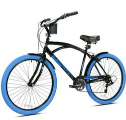 "26"" Men's Bike Kent Bayside Beach Cruiser Bicycle Blue Tires"