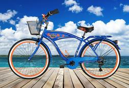 "BCA 26"" Men's, Margaritaville Multi-Speed Cruiser Bike, Blue"